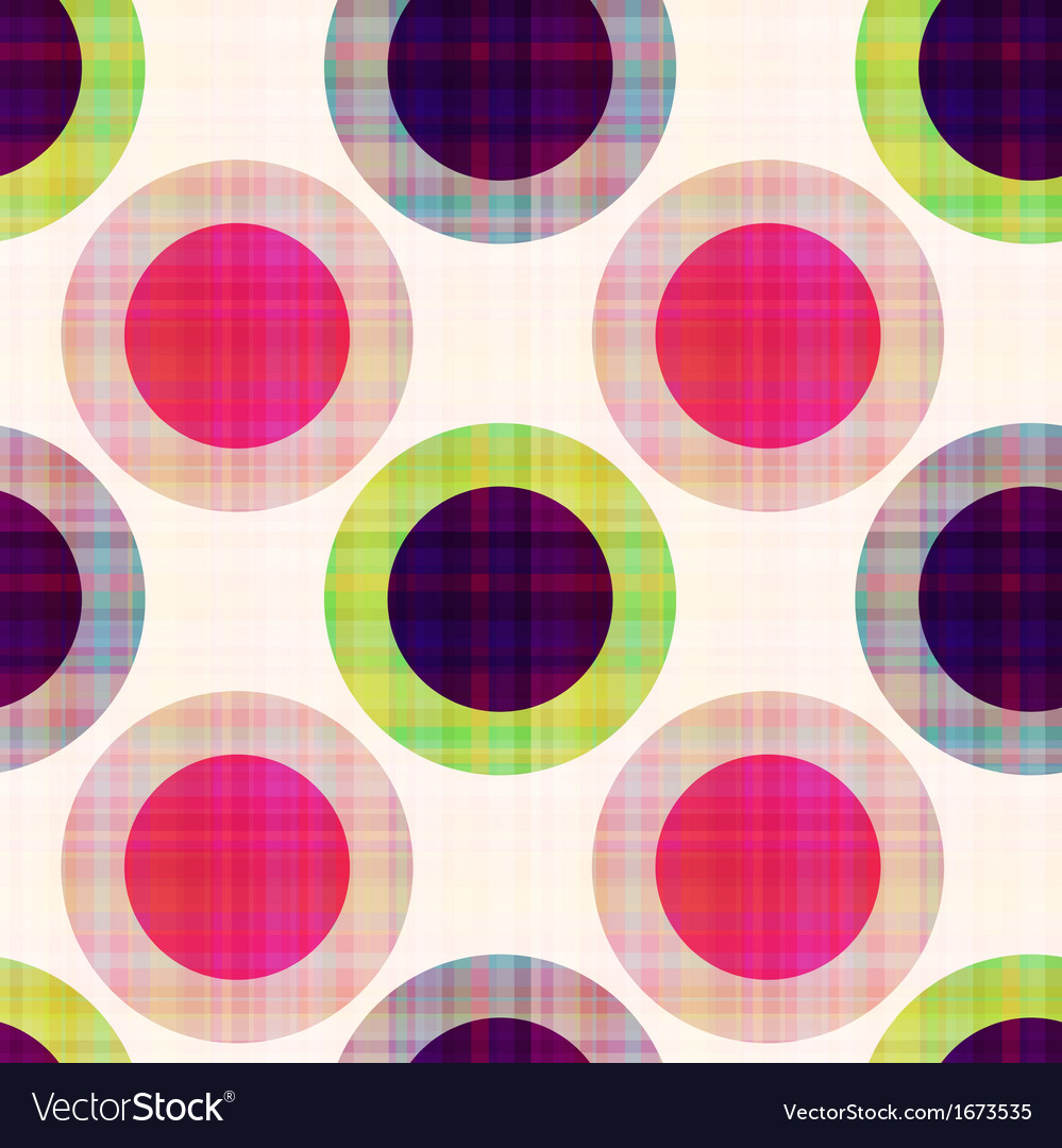 Seamless geometric polka dots pattern vector | Price: 1 Credit (USD $1)