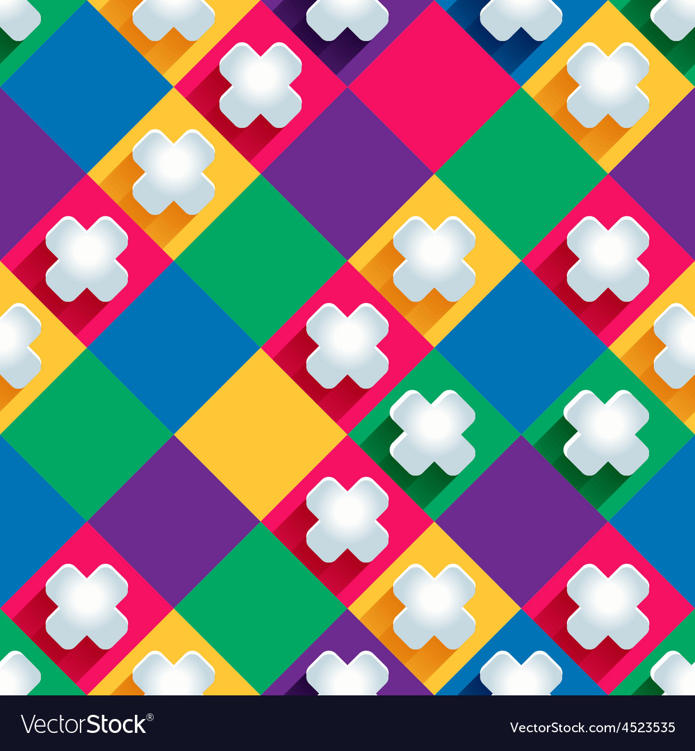 Seamless pattern from paper crosseson a colored vector | Price: 1 Credit (USD $1)
