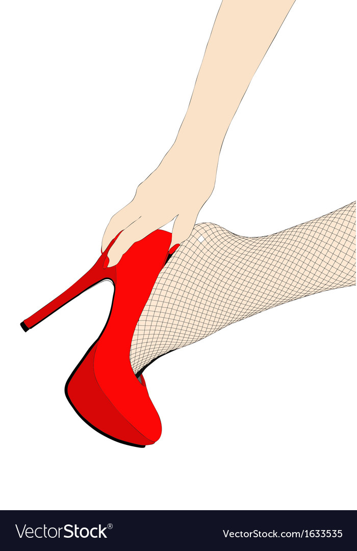 Sensual fishnet stockings vector | Price: 1 Credit (USD $1)