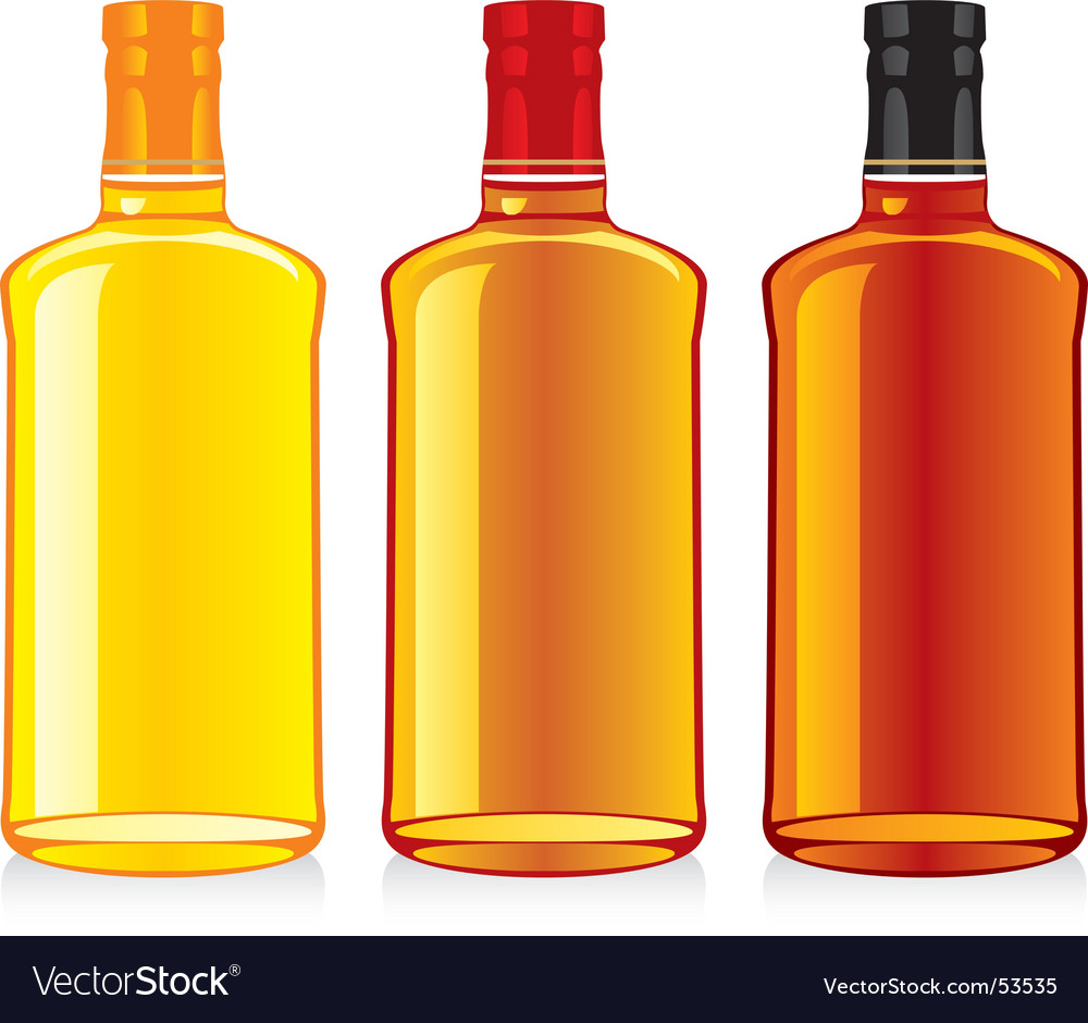 Whiskey bottle and glass vector | Price: 1 Credit (USD $1)