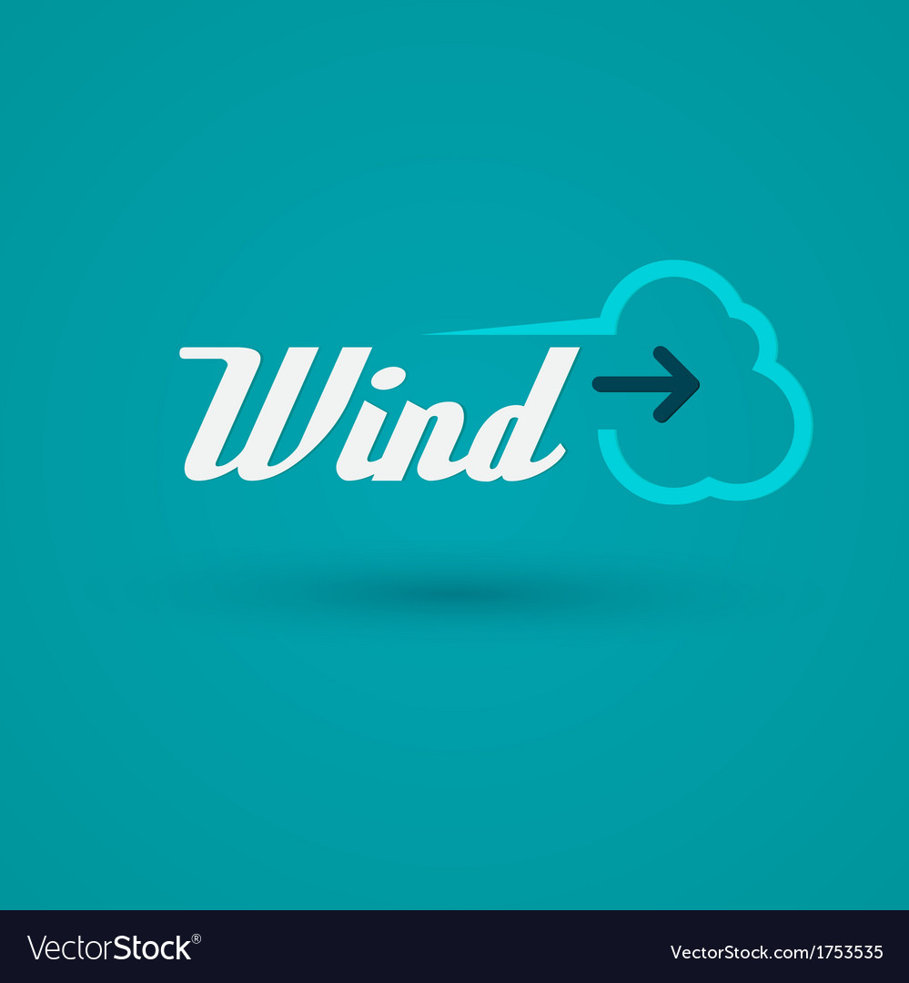 Wind label vector | Price: 1 Credit (USD $1)