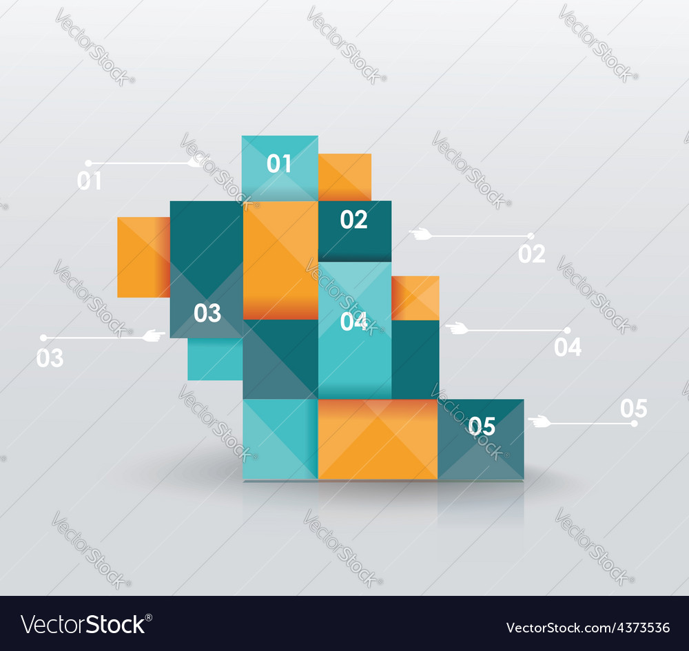 Business infographics polygonal design style vector | Price: 1 Credit (USD $1)