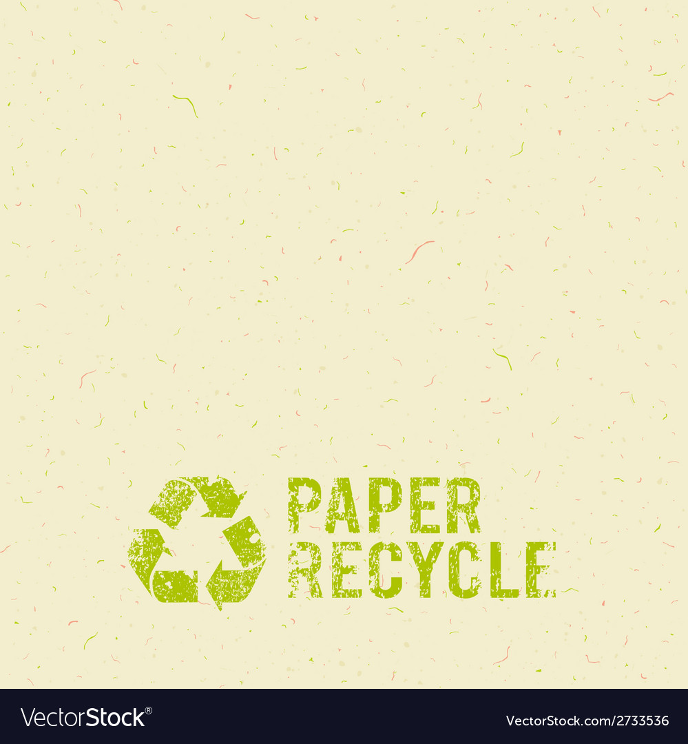 Cream paper recycle design background vector | Price: 1 Credit (USD $1)