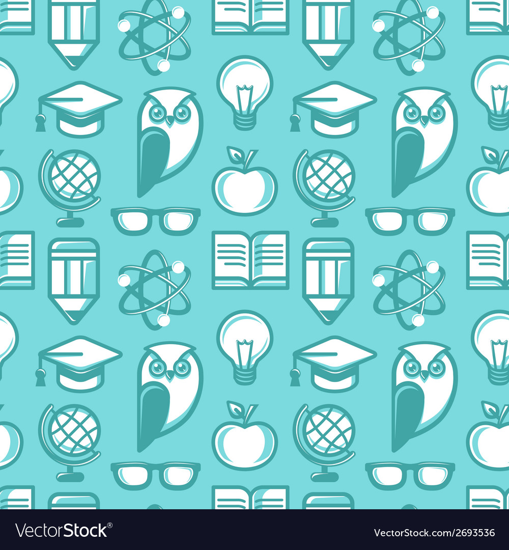 Education pattern flat 2 vector | Price: 1 Credit (USD $1)