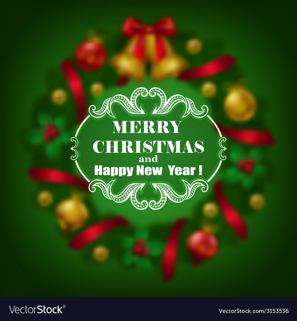 Estive christmas blurred background vector | Price: 1 Credit (USD $1)