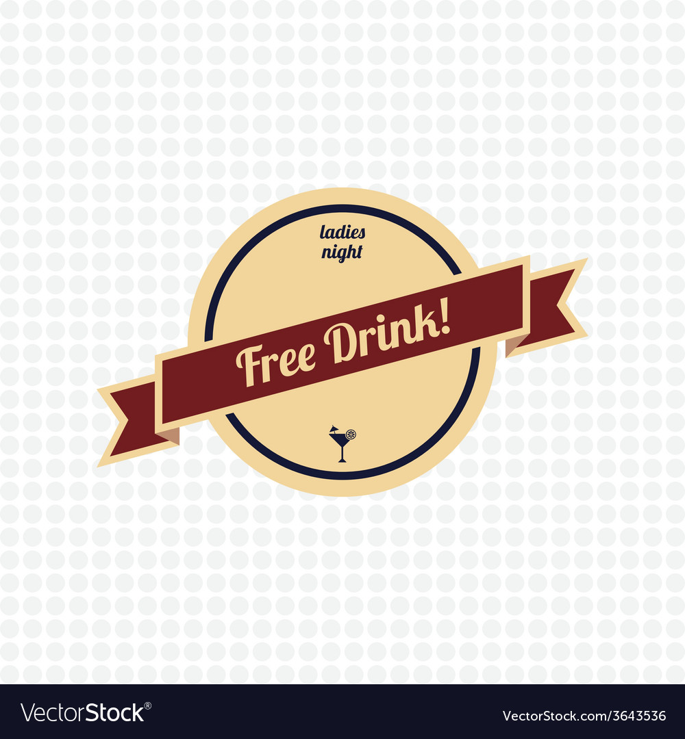 Free drink label vector | Price: 1 Credit (USD $1)