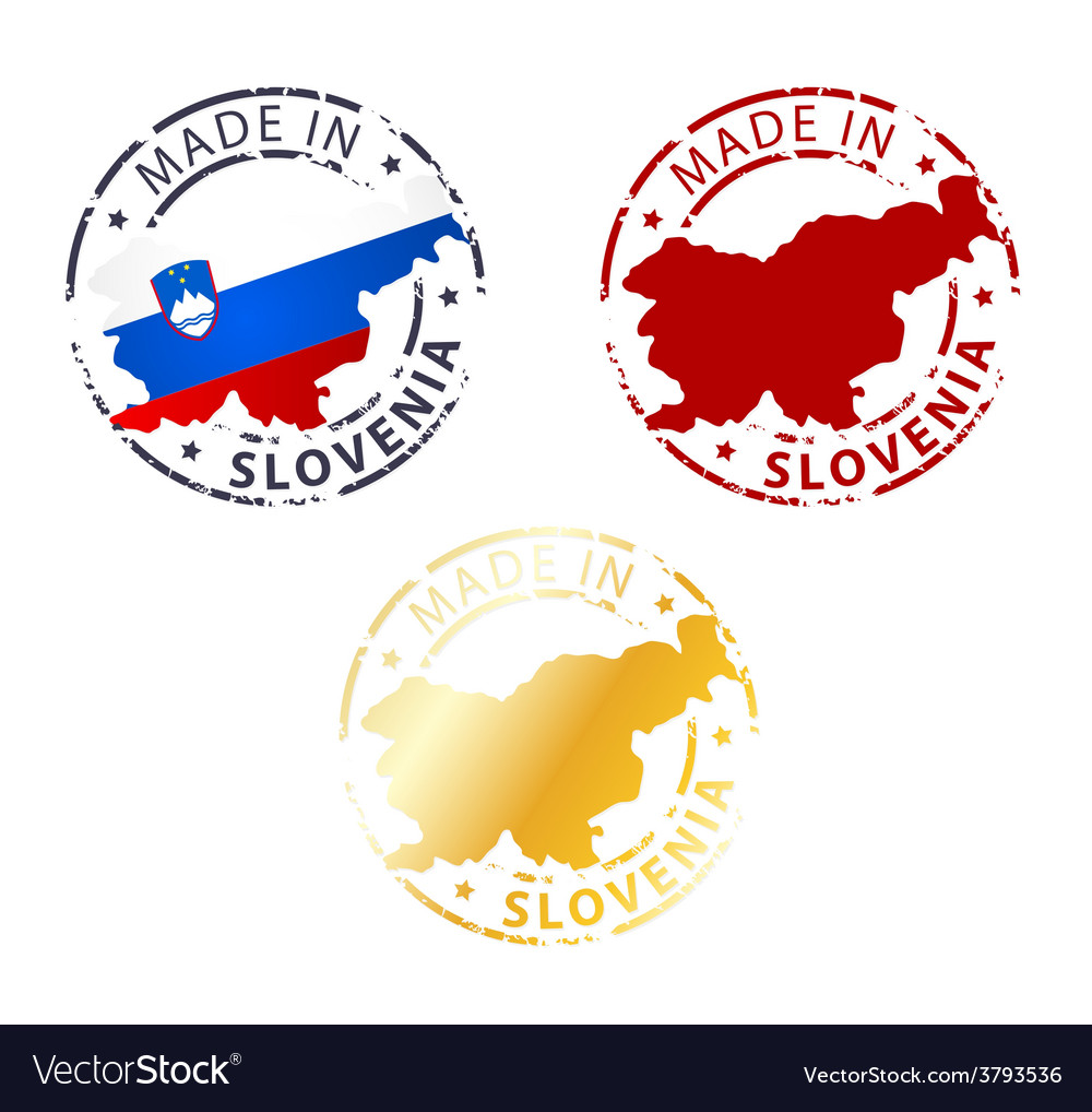 Made in slovenia stamp vector | Price: 1 Credit (USD $1)