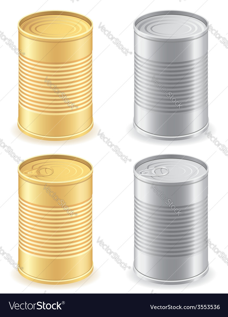 Metal tin can 01 vector