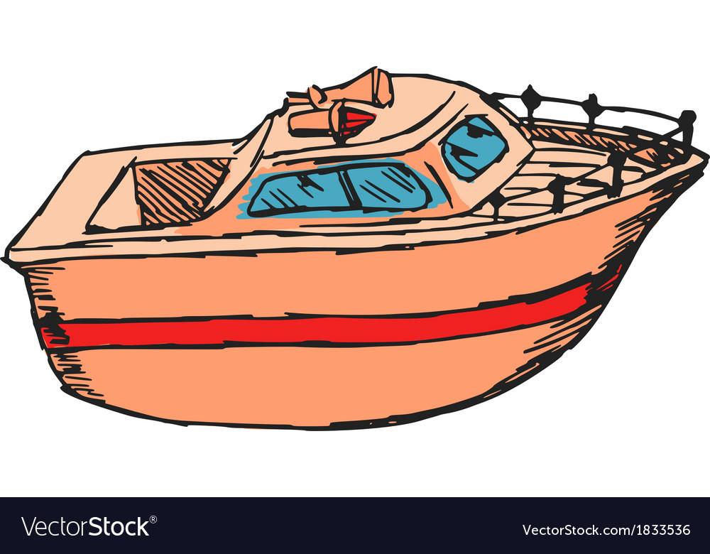 Motor boat vector | Price: 1 Credit (USD $1)