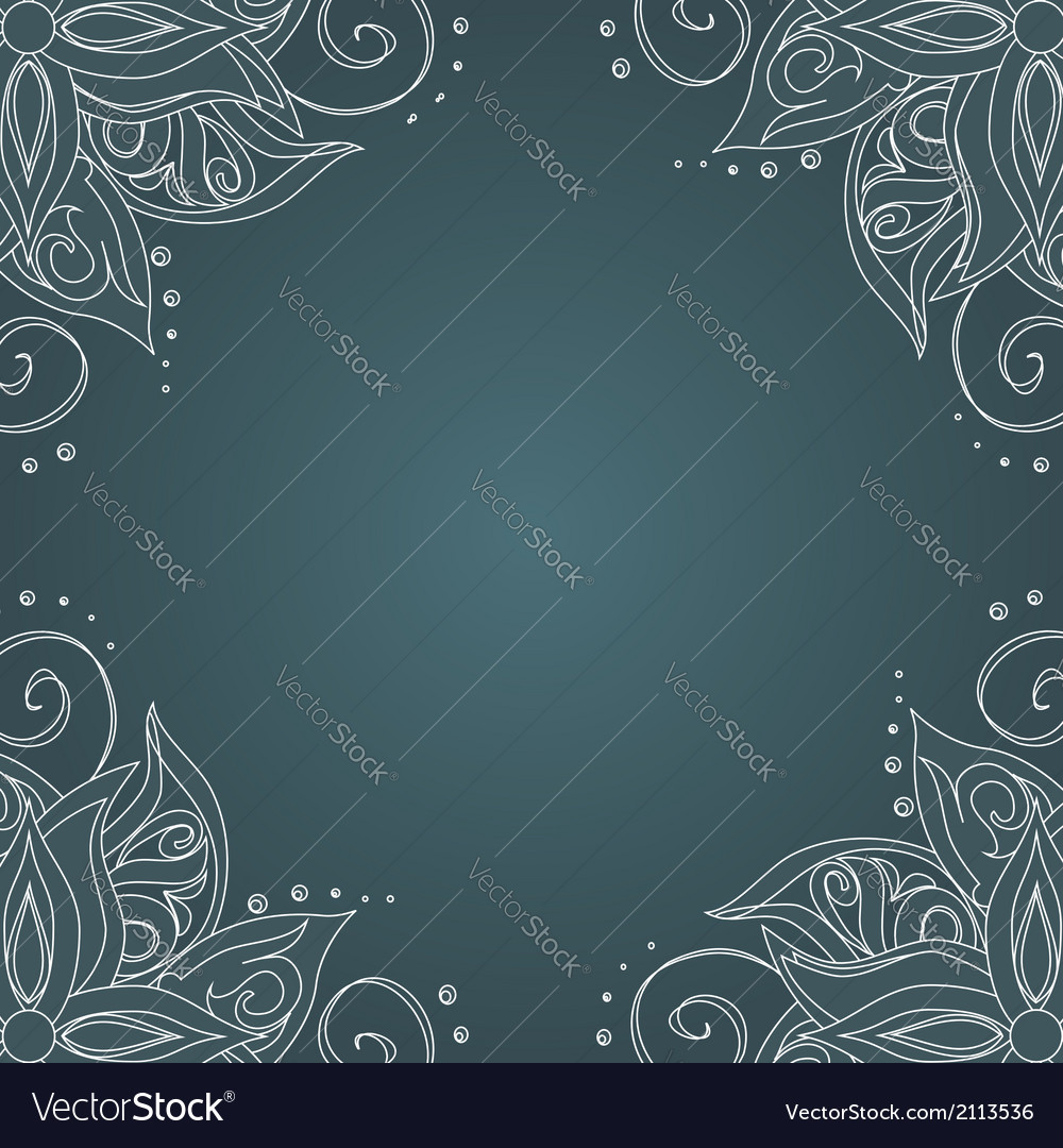 Ornamental frame against dark green background vector | Price: 1 Credit (USD $1)
