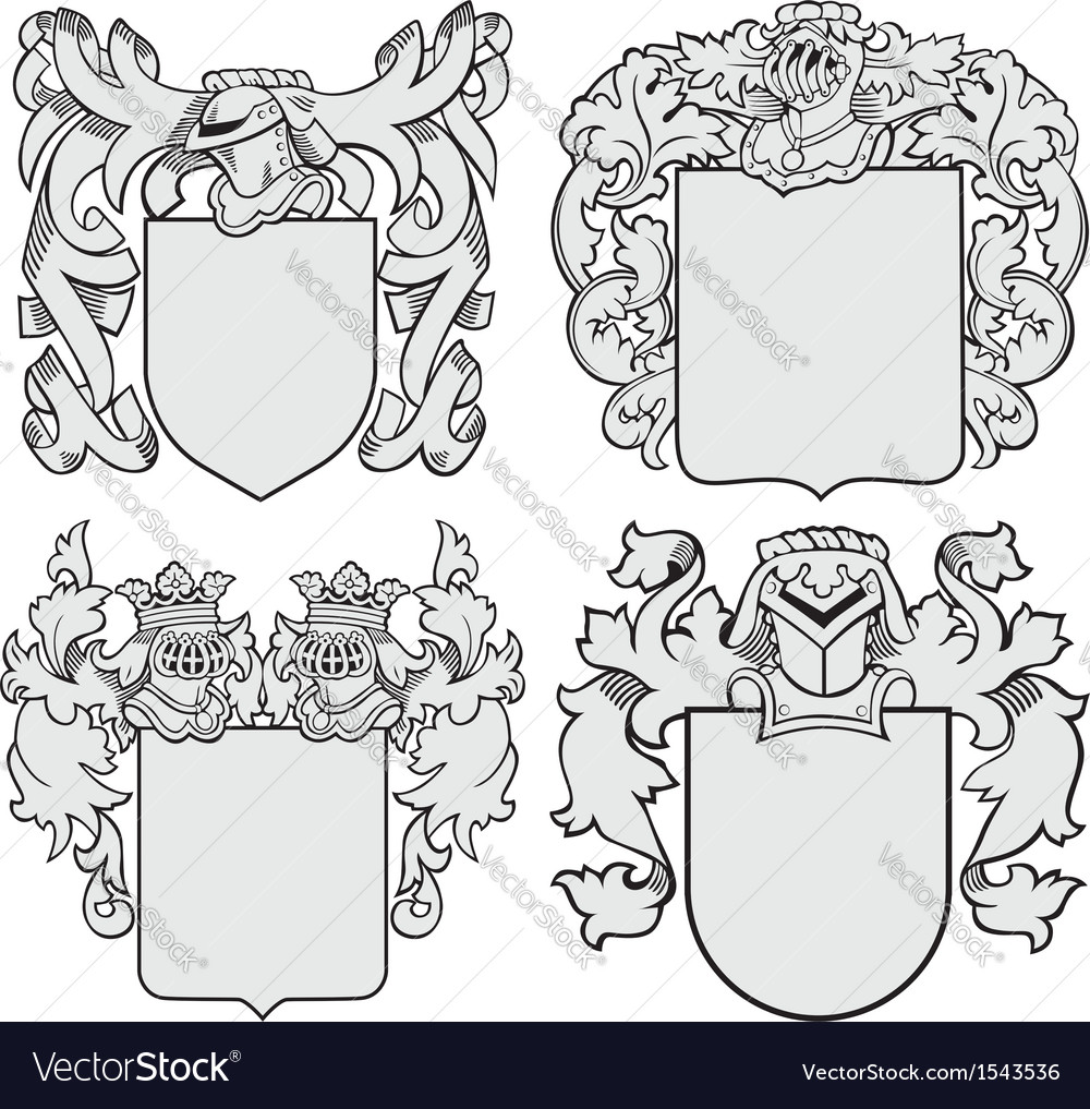 Set of aristocratic emblems no6 vector | Price: 1 Credit (USD $1)