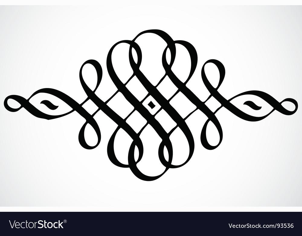 Swirl ornament vector | Price: 1 Credit (USD $1)