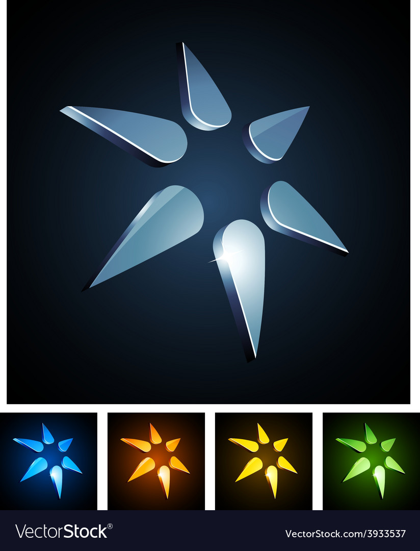 3d star emblems vector | Price: 1 Credit (USD $1)