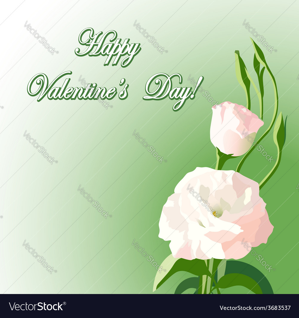 Beautiful flowers - background for valentine day vector | Price: 1 Credit (USD $1)