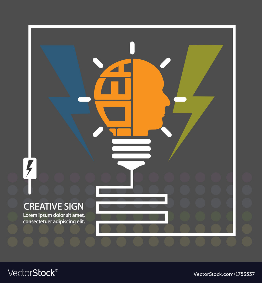 Creative light bulb vector | Price: 1 Credit (USD $1)