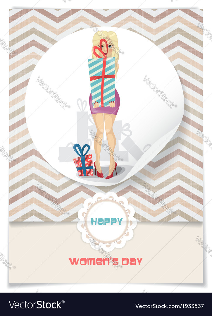Happy womens day march 8 vector | Price: 1 Credit (USD $1)