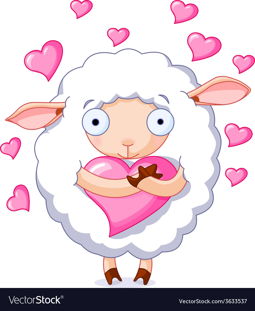 In love sheep vector | Price: 1 Credit (USD $1)