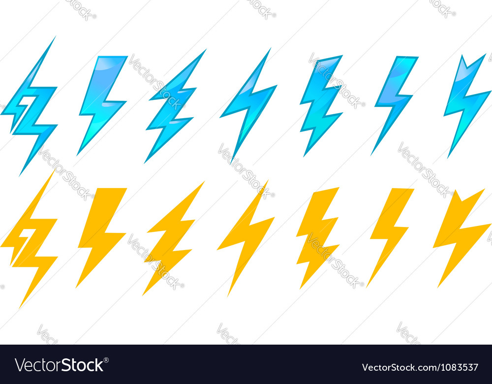 Lightning icons and symbols vector | Price: 1 Credit (USD $1)