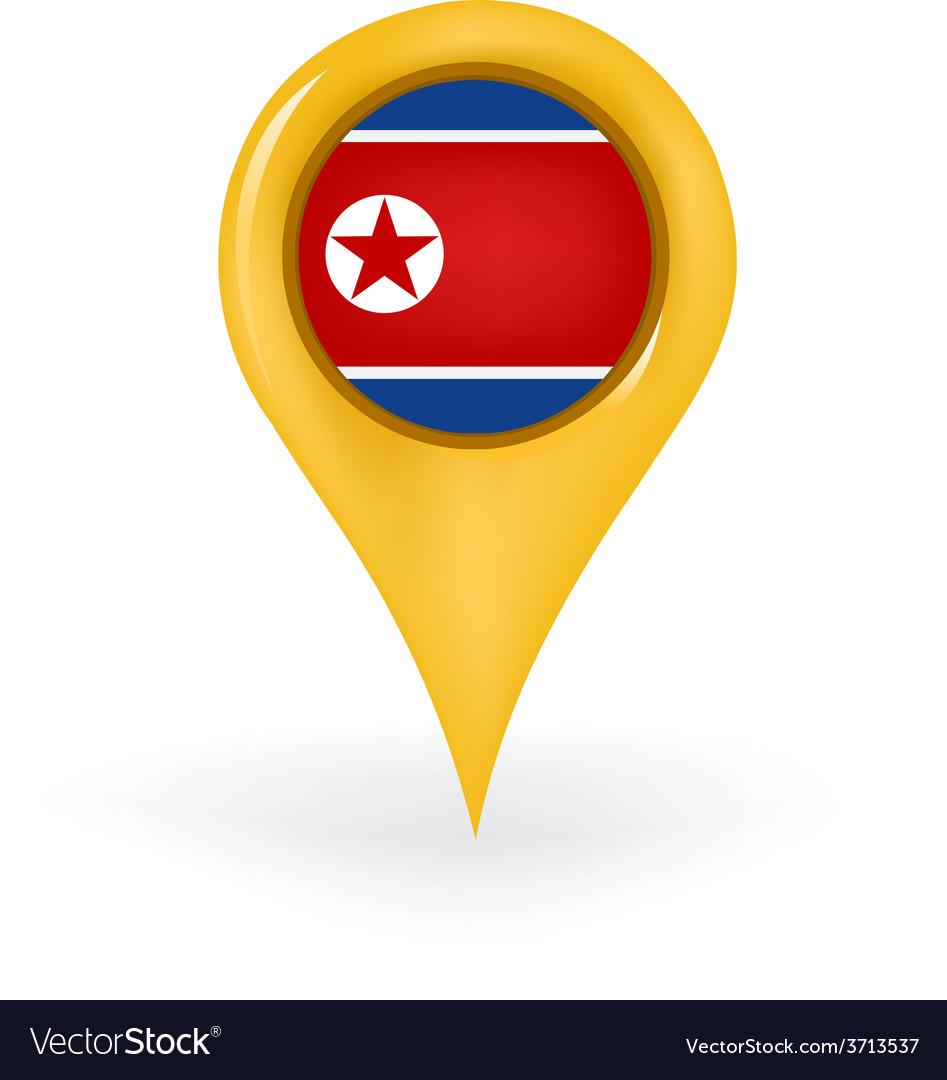 Location north korea vector | Price: 1 Credit (USD $1)