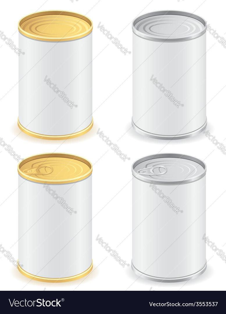 Metal tin can 02 vector | Price: 1 Credit (USD $1)