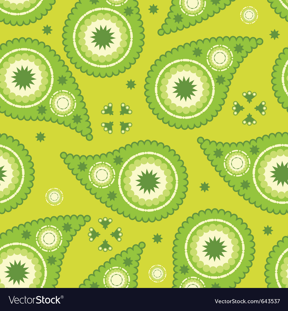 Modern paisley pattern vector | Price: 1 Credit (USD $1)