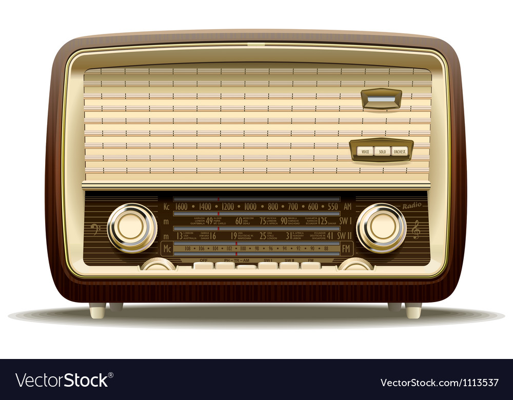 Old radio vector | Price: 1 Credit (USD $1)