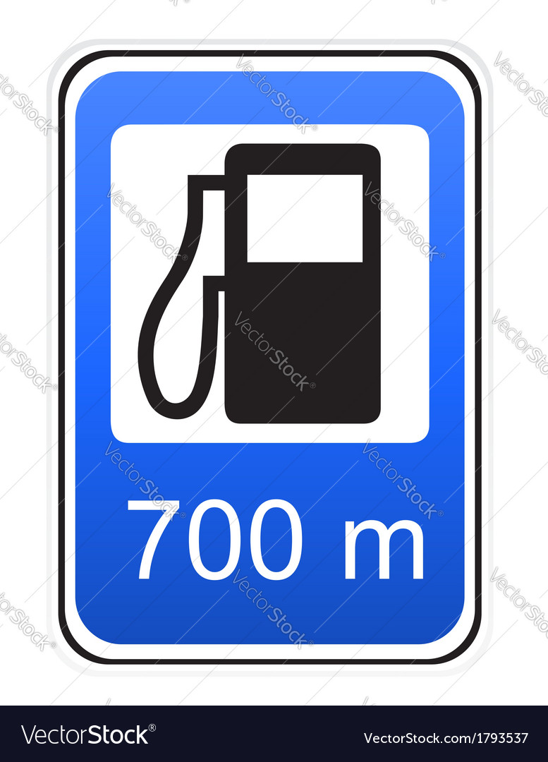 Road sign refueling vector | Price: 1 Credit (USD $1)