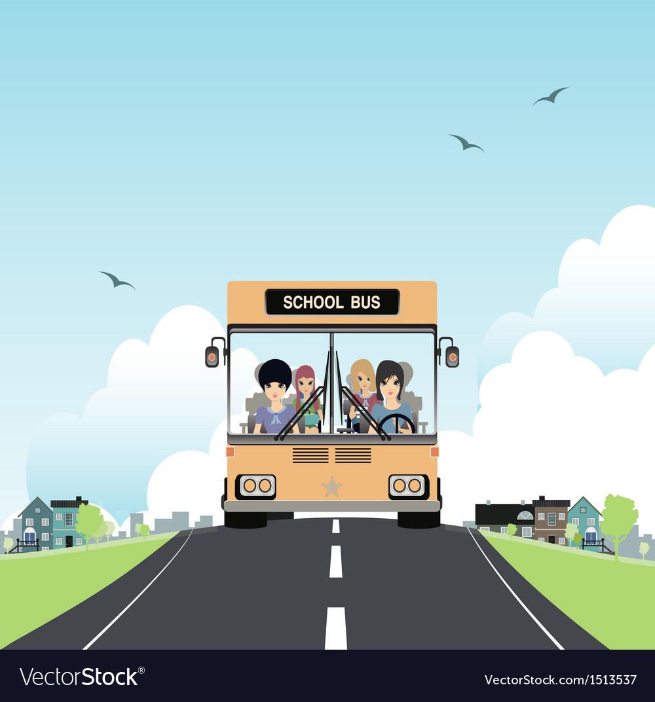 School bus vector | Price: 3 Credit (USD $3)