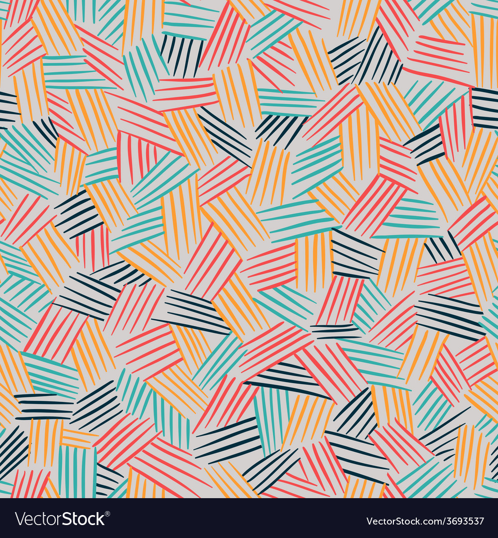 Seamless pattern with interweaving of lines vector | Price: 1 Credit (USD $1)