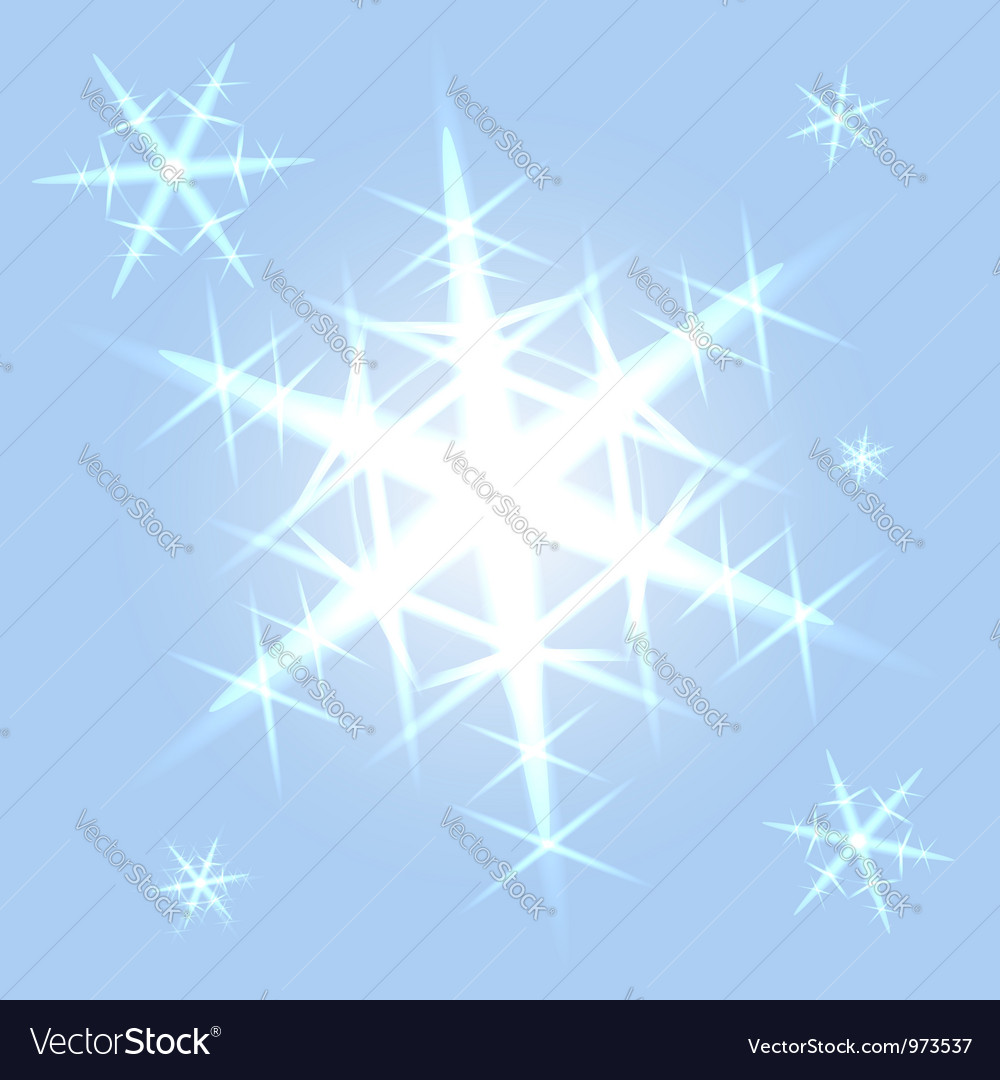 Shining snowflakes on blue vector | Price:  Credit (USD $)