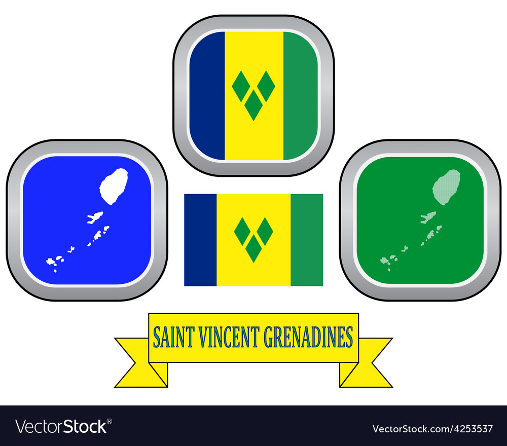 Symbol of saint vincent and the grenadines vector | Price: 1 Credit (USD $1)