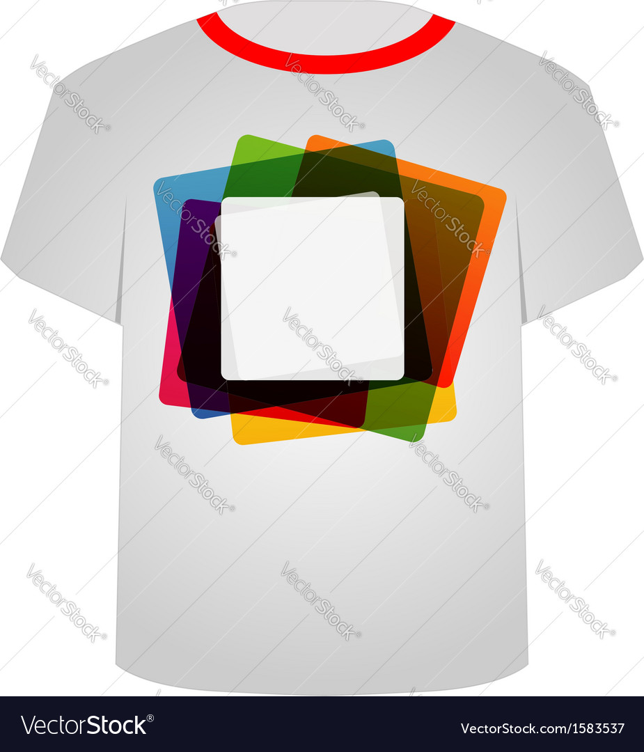 T shirt template- colorful blocks vector | Price: 1 Credit (USD $1)