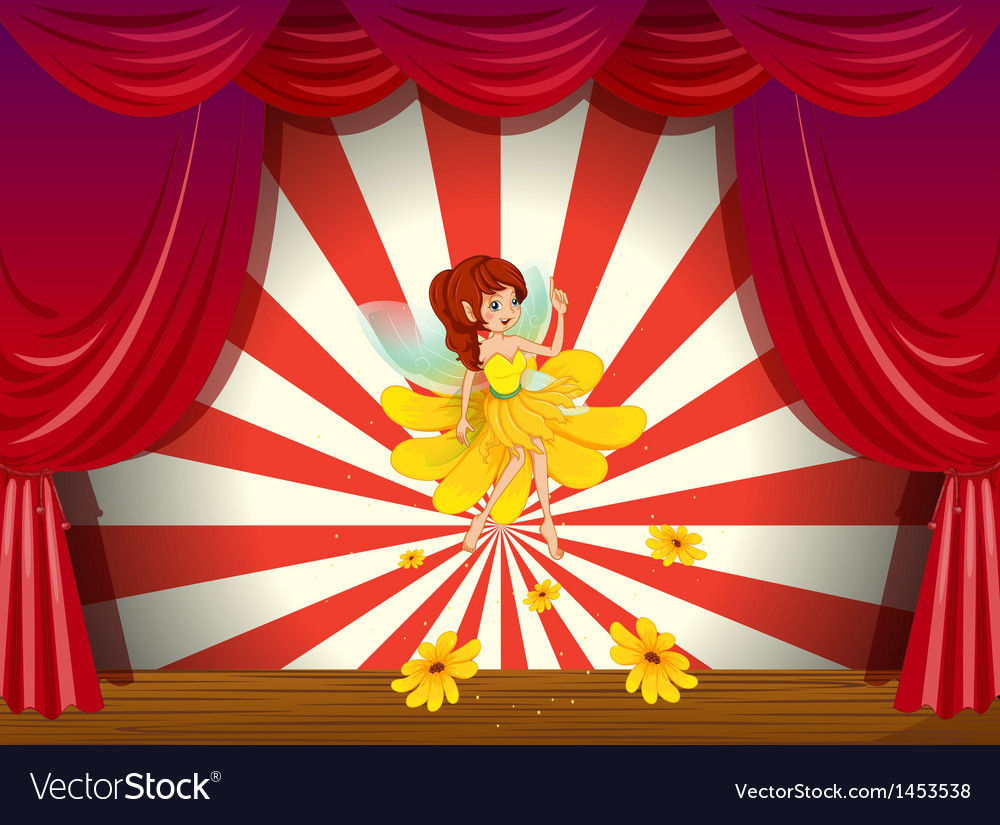A flower pixie at the stage vector   Price: 1 Credit (USD $1)