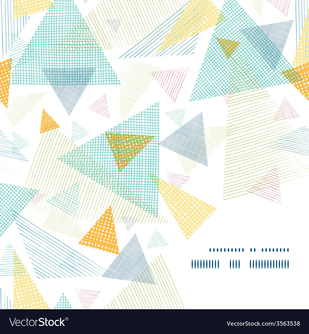 Abstract fabric triangles frame corner pattern vector | Price: 1 Credit (USD $1)