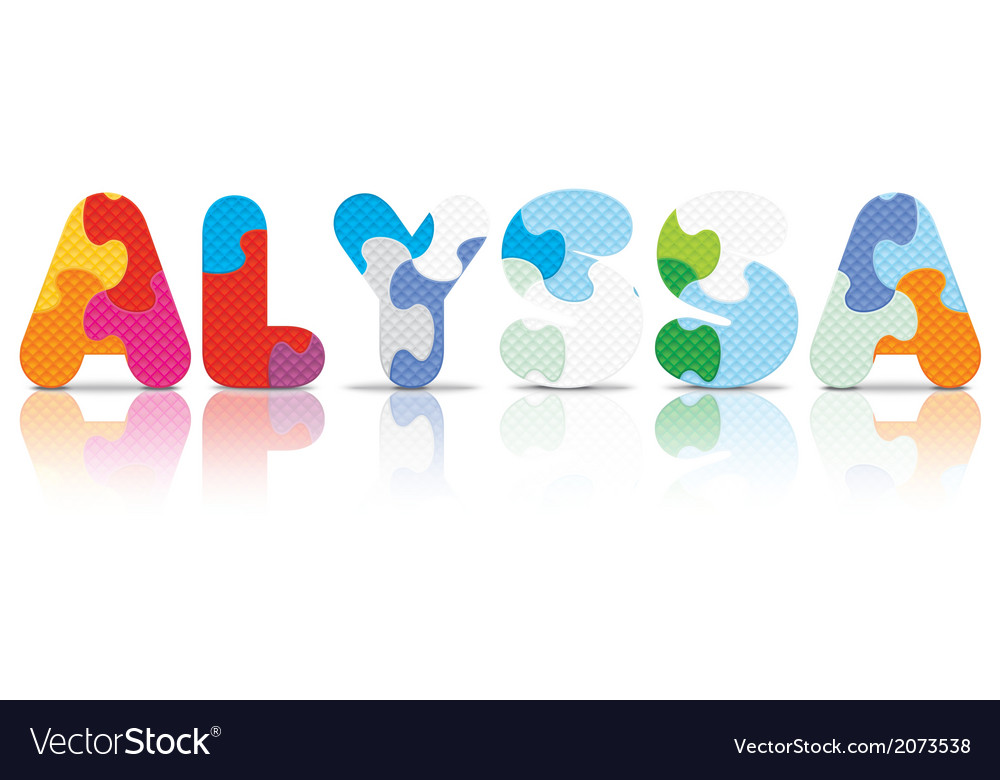 Alyssa written with alphabet puzzle vector | Price: 1 Credit (USD $1)