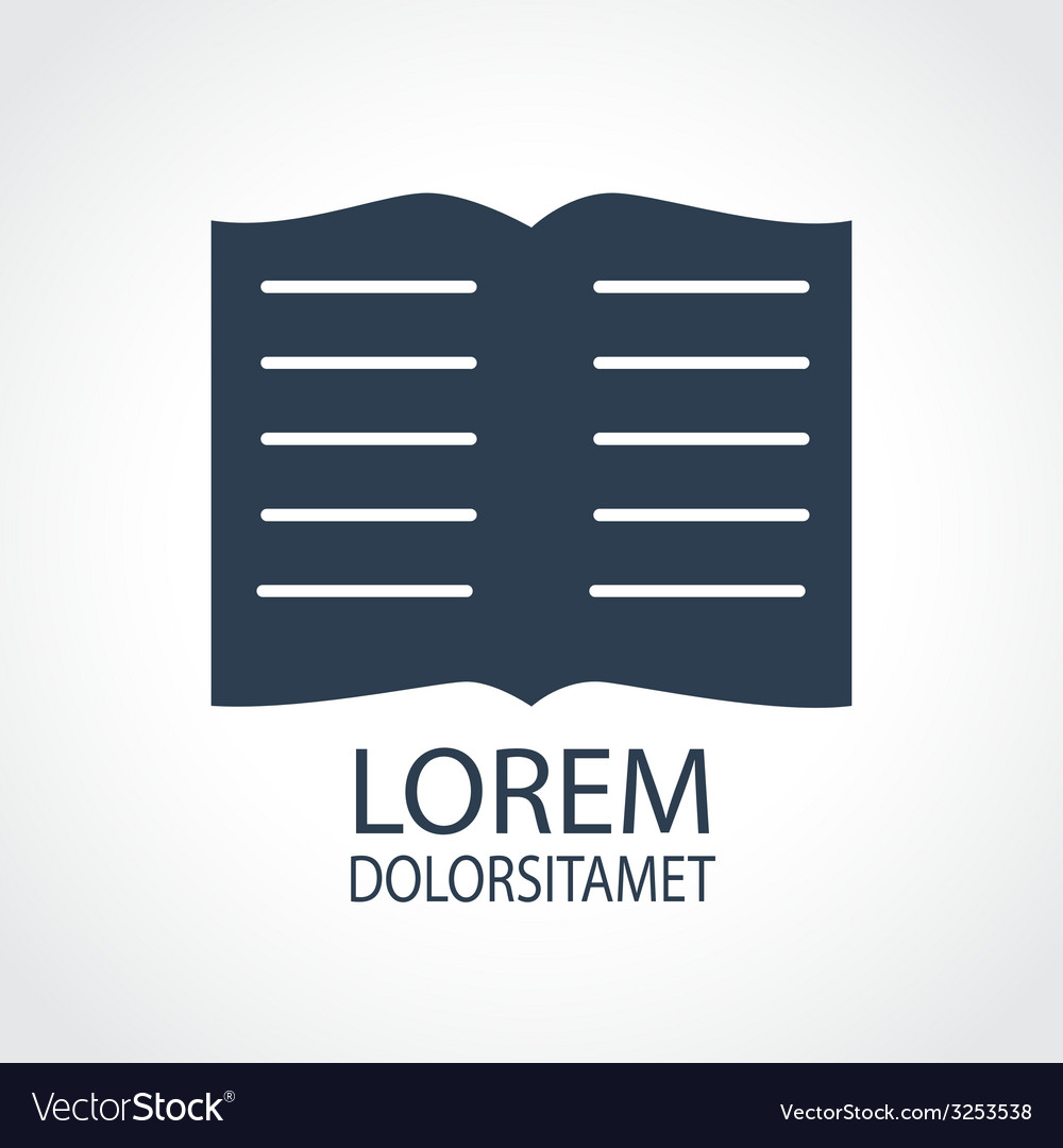 Book dark flat icon vector | Price: 1 Credit (USD $1)