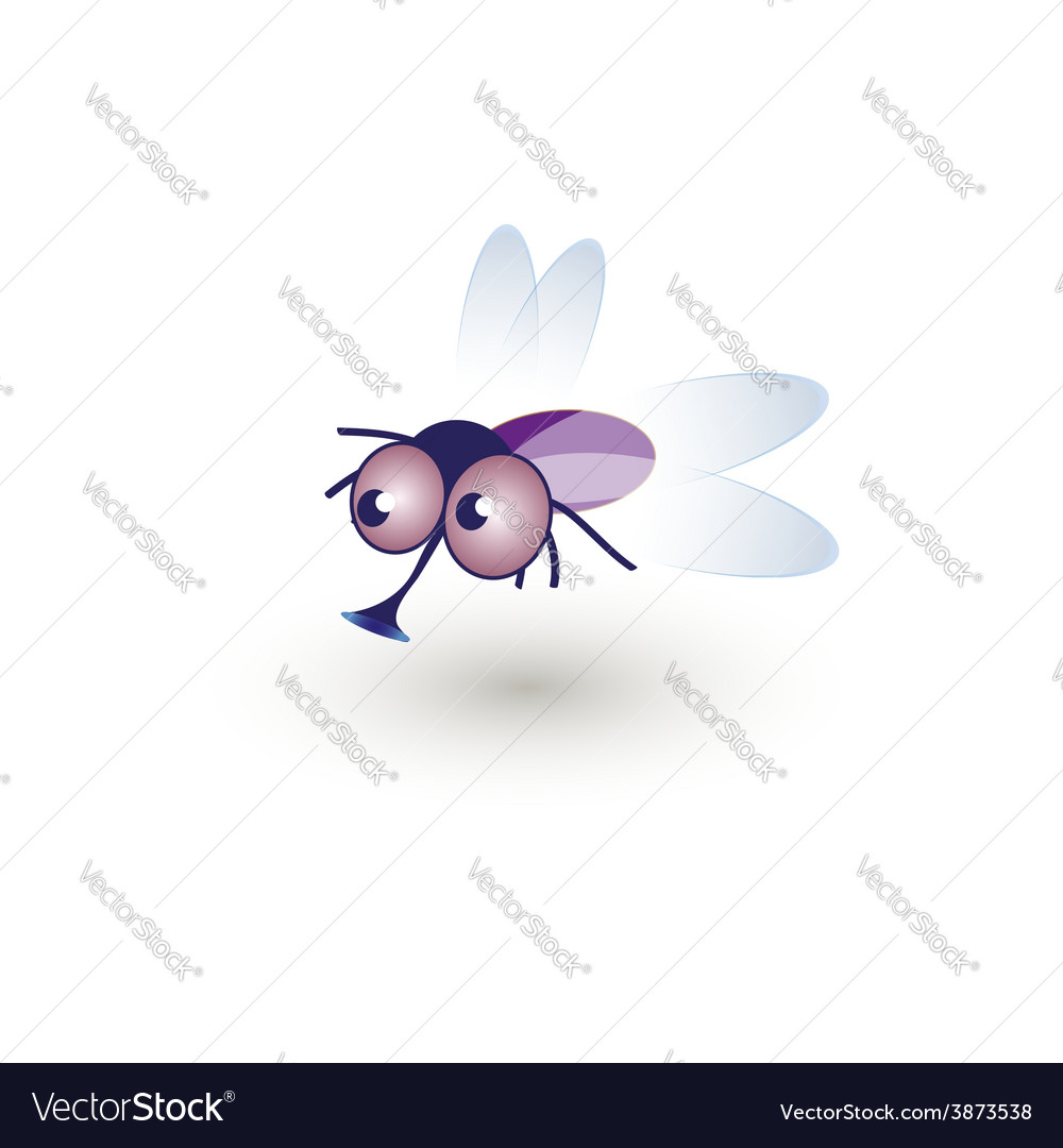 Comic funny housefly of a cartoon vector | Price: 1 Credit (USD $1)