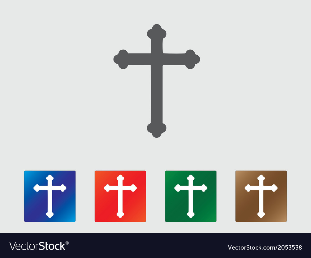 Cross icons vector | Price: 1 Credit (USD $1)