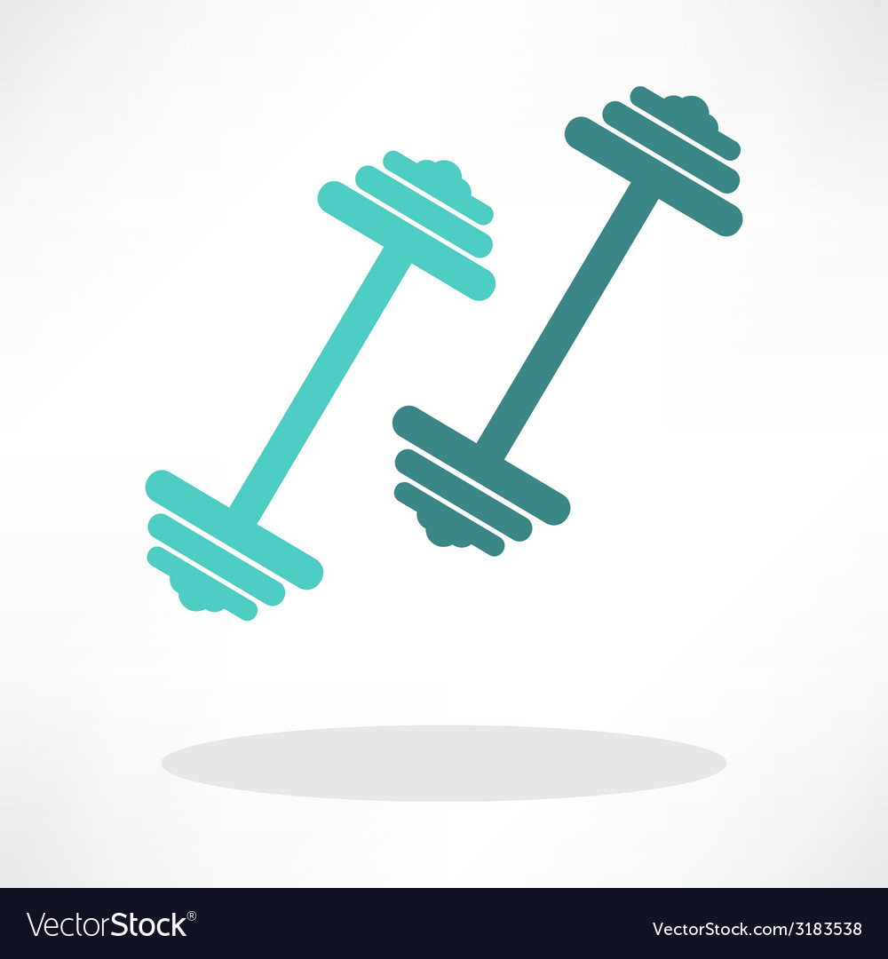 Dumbbell weights symbol vector | Price: 1 Credit (USD $1)