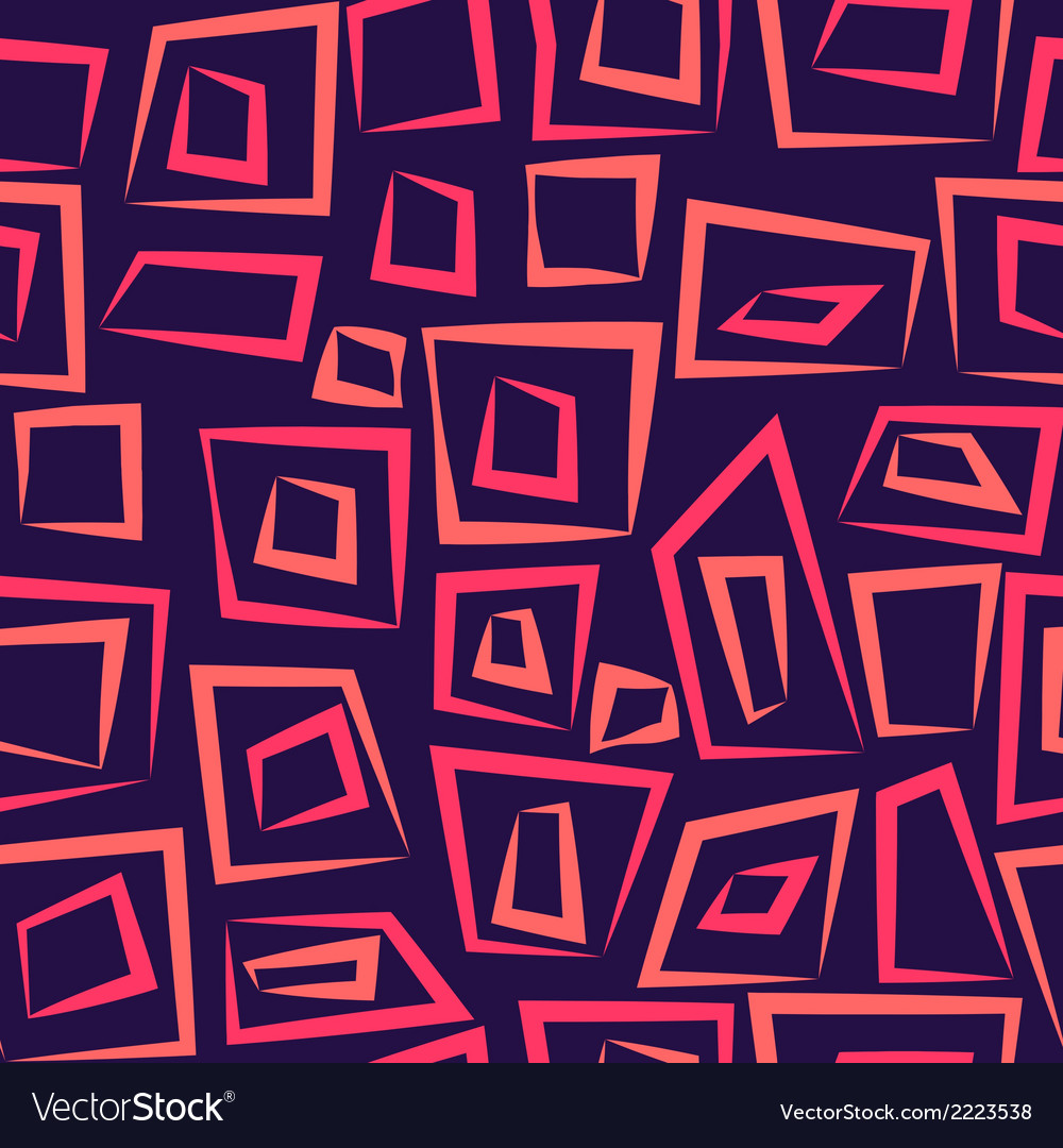 Geometric abstract seamless pattern on purple vector | Price: 1 Credit (USD $1)