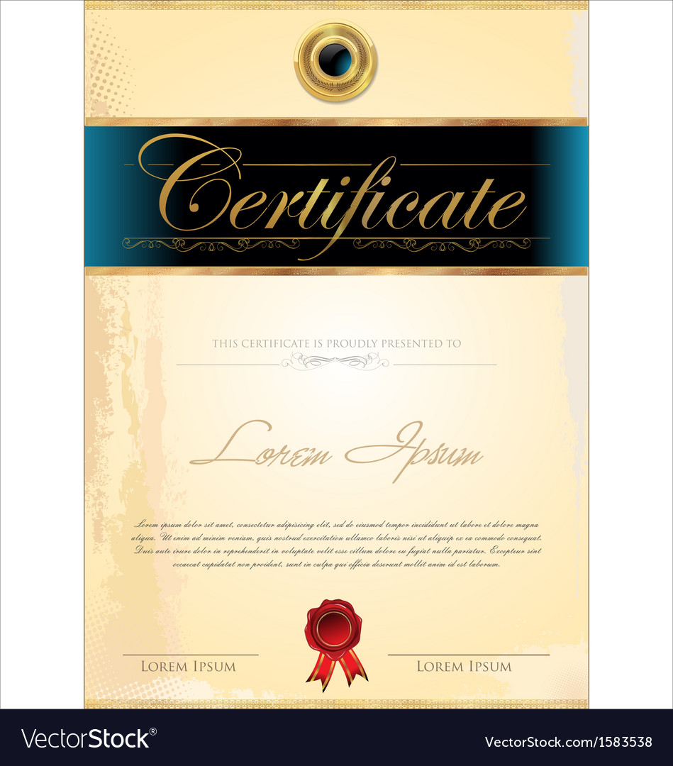 Luxury blue certificate template vector   Price: 1 Credit (USD $1)