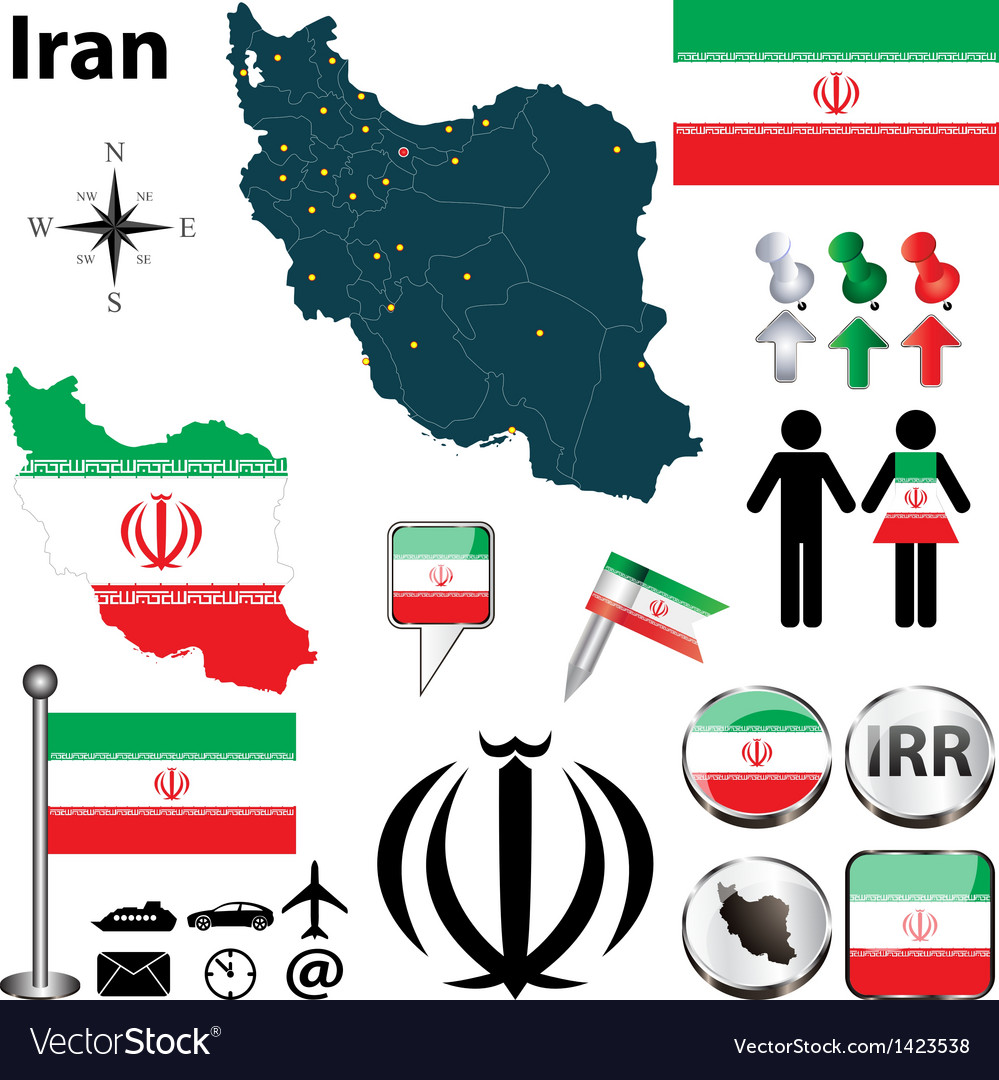 Map of iran vector | Price: 1 Credit (USD $1)