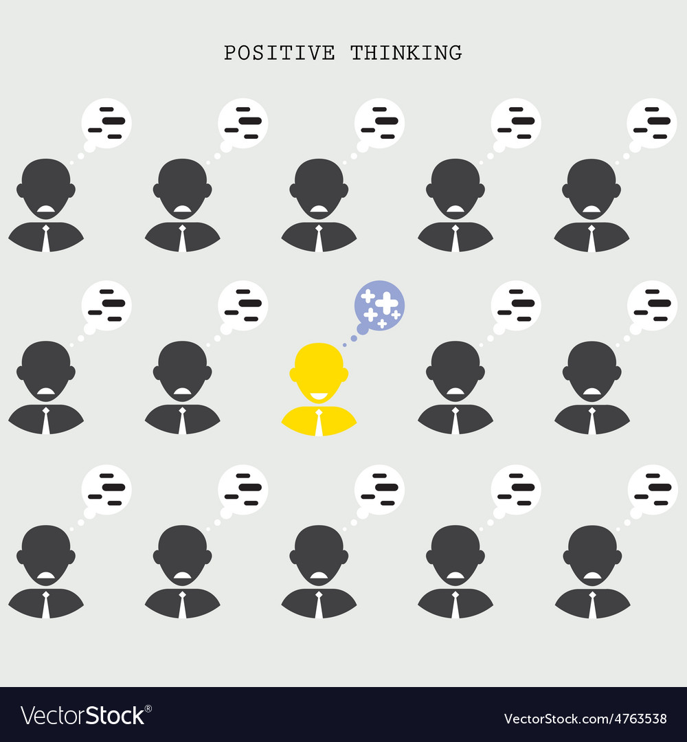 Positive thinking concept vector | Price: 1 Credit (USD $1)