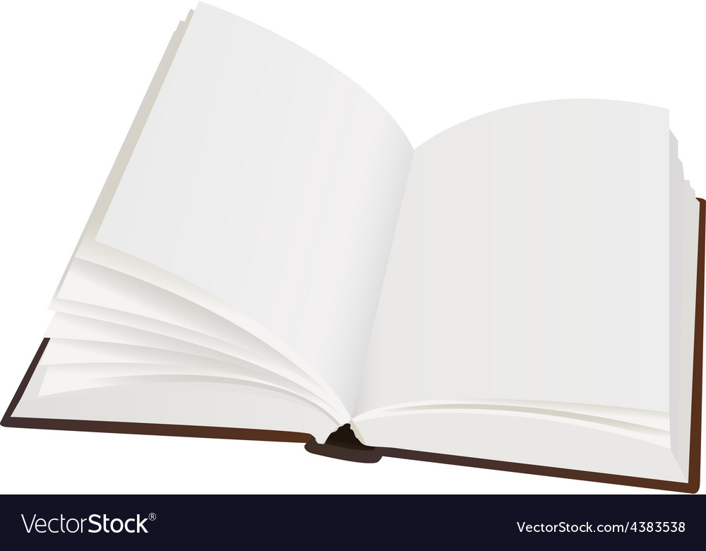 Realistic opened book with blank pages vector | Price: 1 Credit (USD $1)