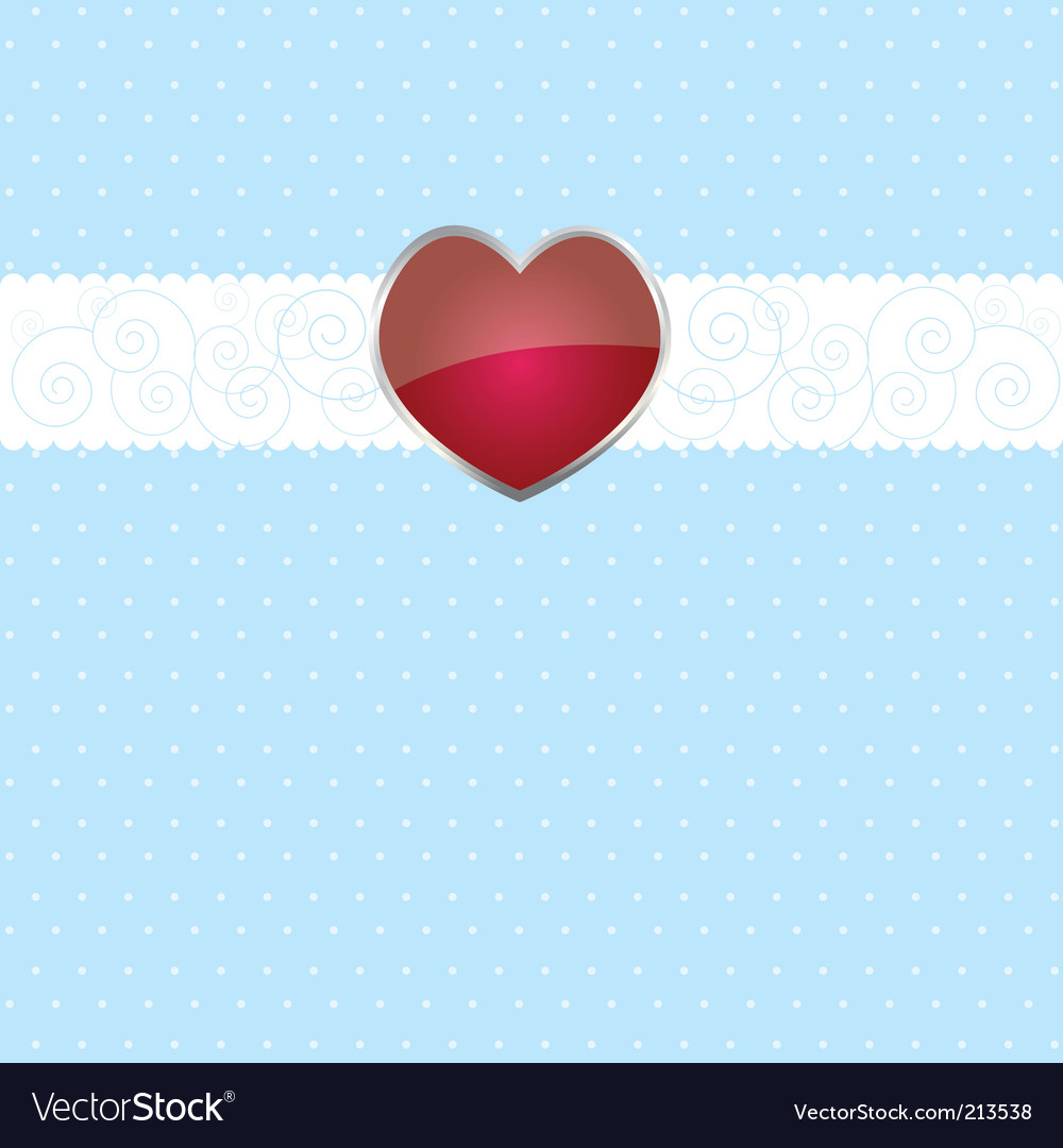 Ribbon and heart on white vector | Price: 1 Credit (USD $1)