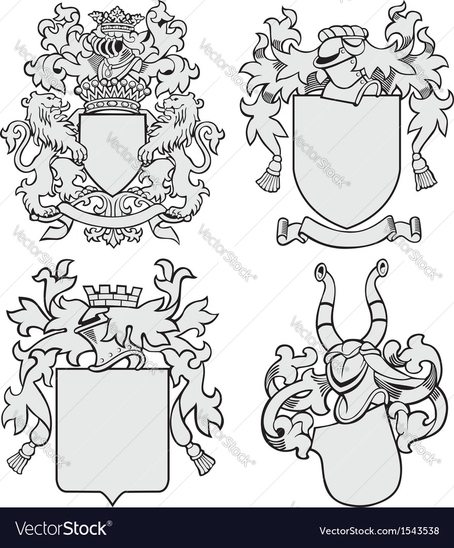 Set of aristocratic emblems no7 vector | Price: 1 Credit (USD $1)