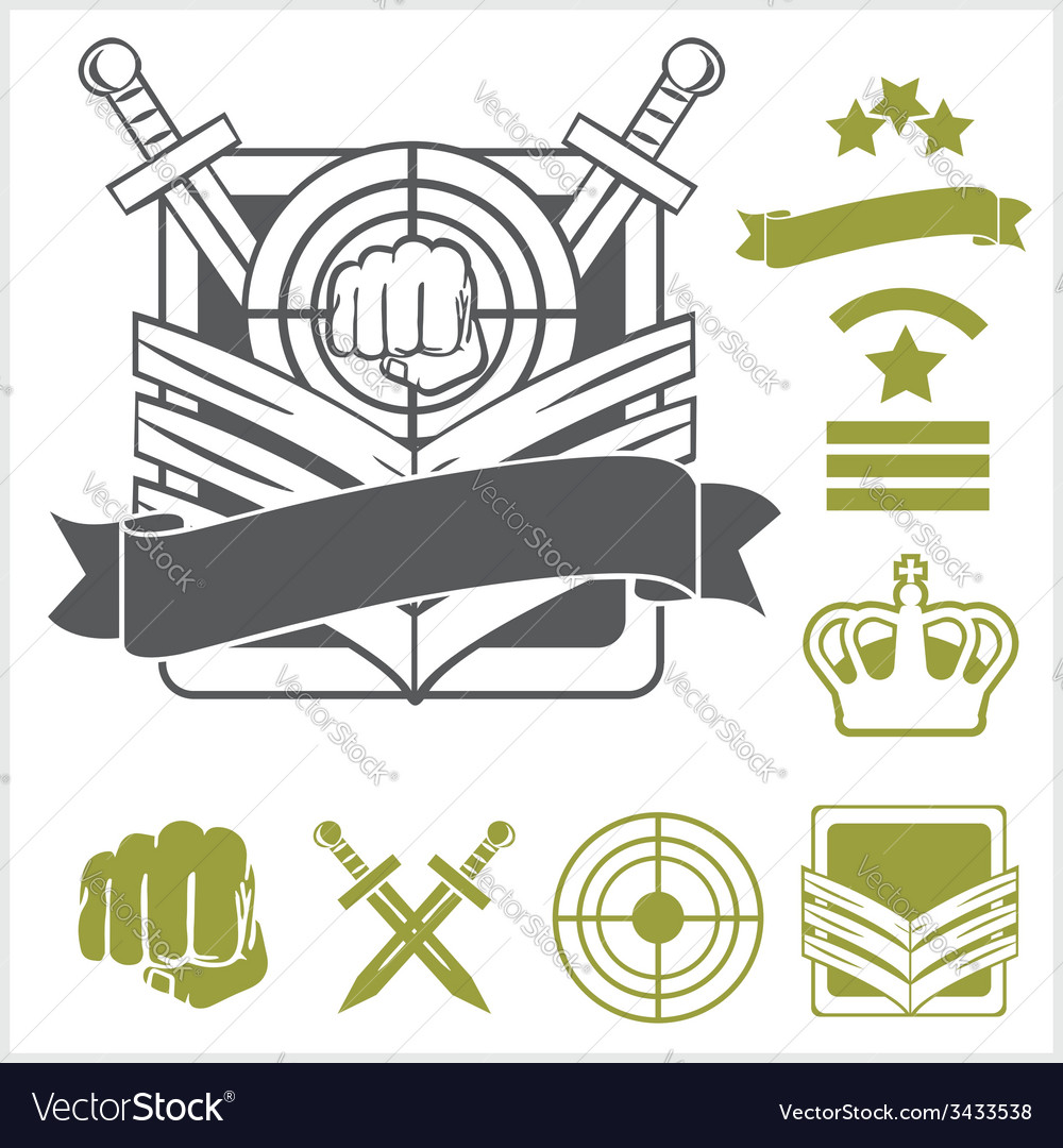 Special unit military patches vector | Price: 1 Credit (USD $1)
