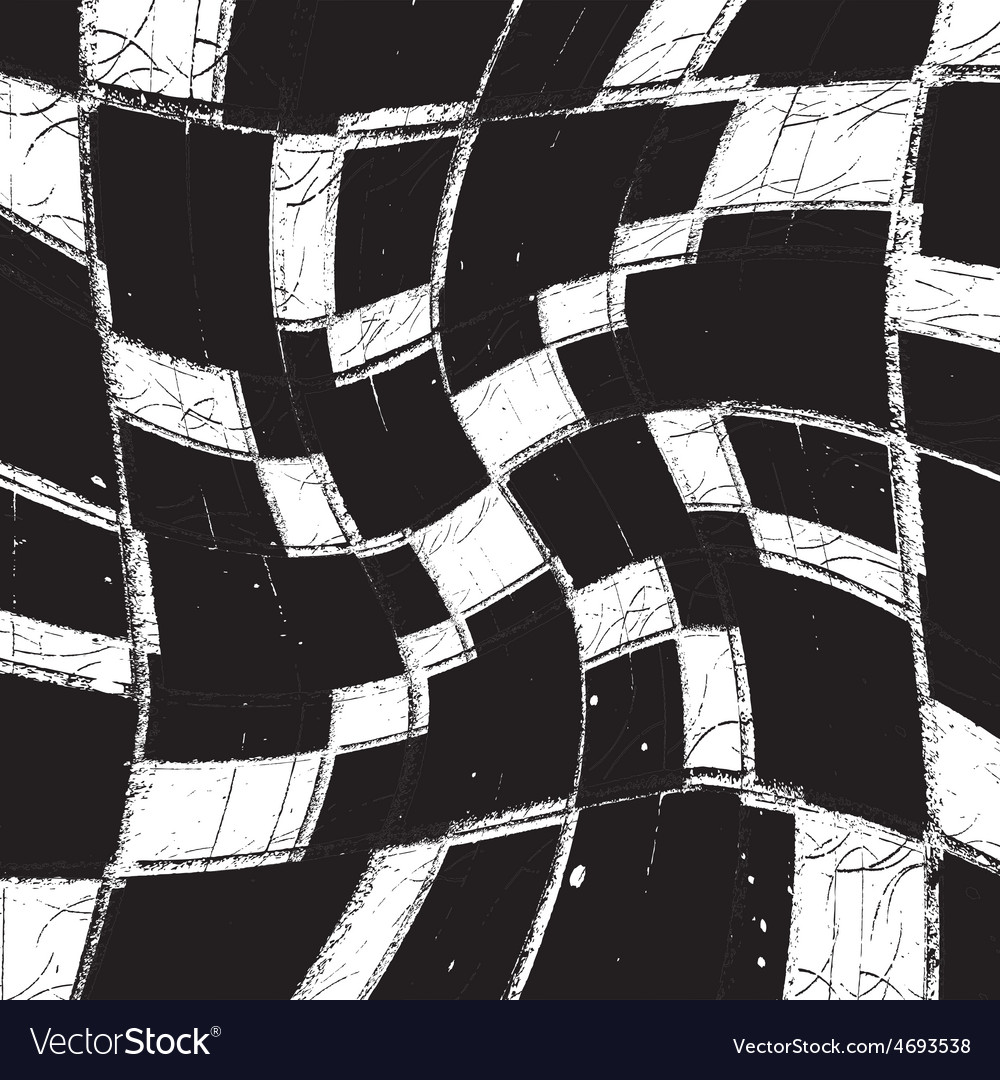 Texture grunge curves checker vector | Price: 1 Credit (USD $1)