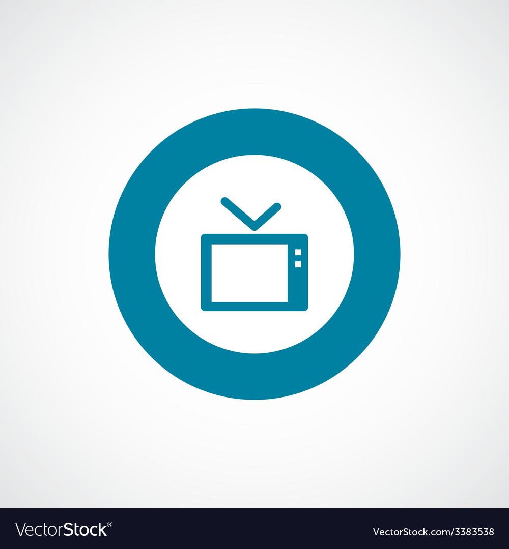 Tv bold blue border circle icon vector | Price: 1 Credit (USD $1)