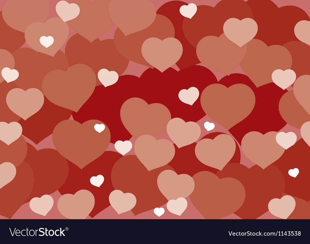 Valentine hart background vector | Price: 1 Credit (USD $1)